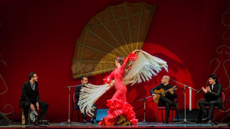 Yolanda Osuna - flamenco dancer. The flamenco dancer Yolanda Osuna during the show of Spain Day 2013 organized in Bucharest royalty free stock photos