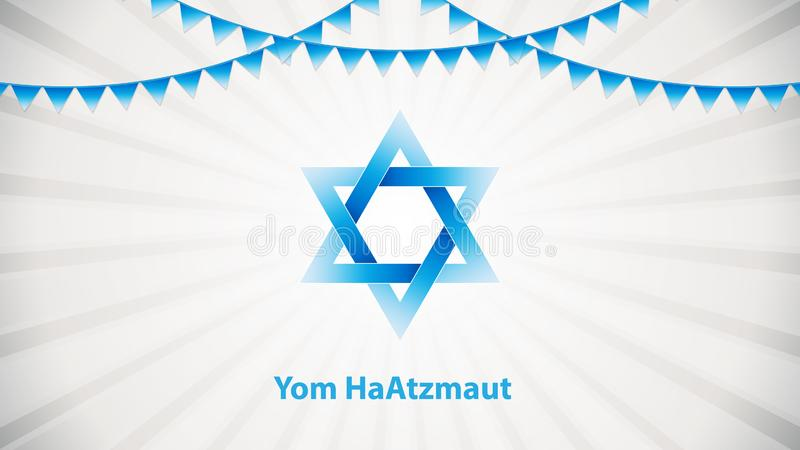 Yom HaAtzmaut. Independence Day is the national day of Israel, vector illustration vector illustration