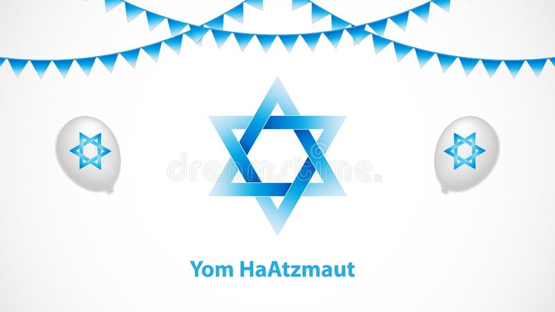 Yom HaAtzmaut. Independence Day is the national day of Israel, vector illustration royalty free illustration