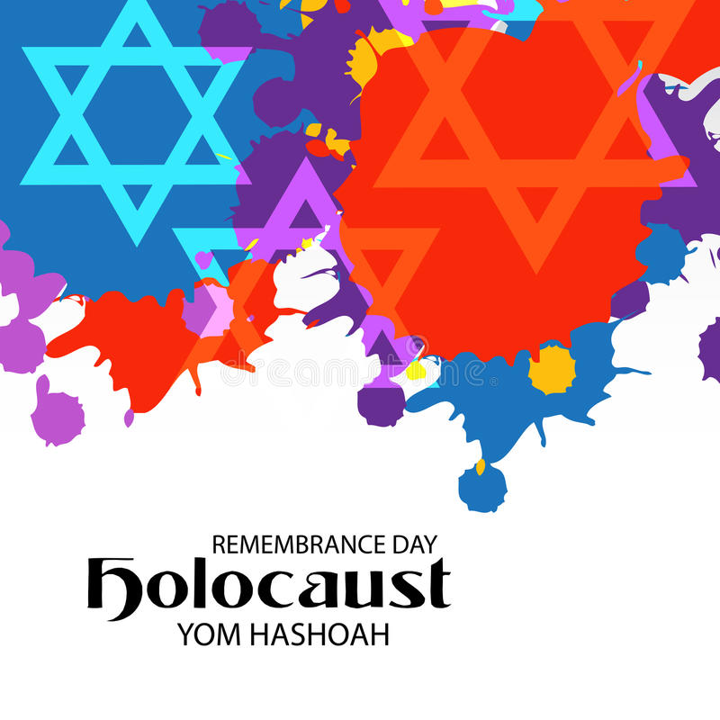 Yom Hashoah ilustração royalty free
