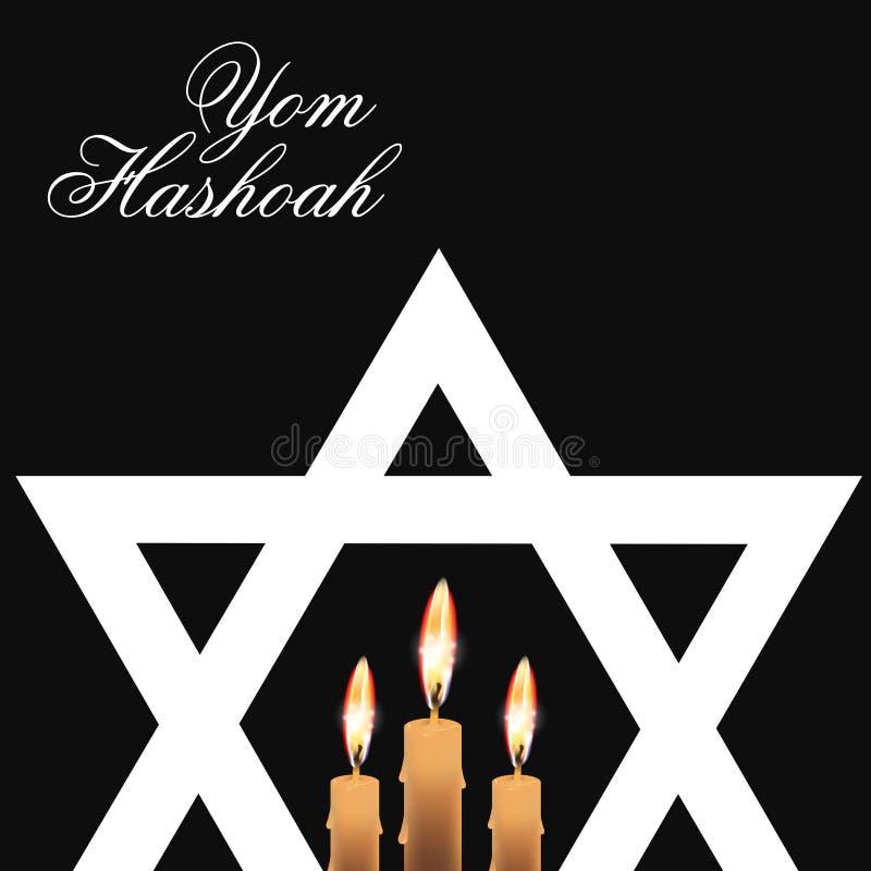 Yom Hashoah stock illustrationer
