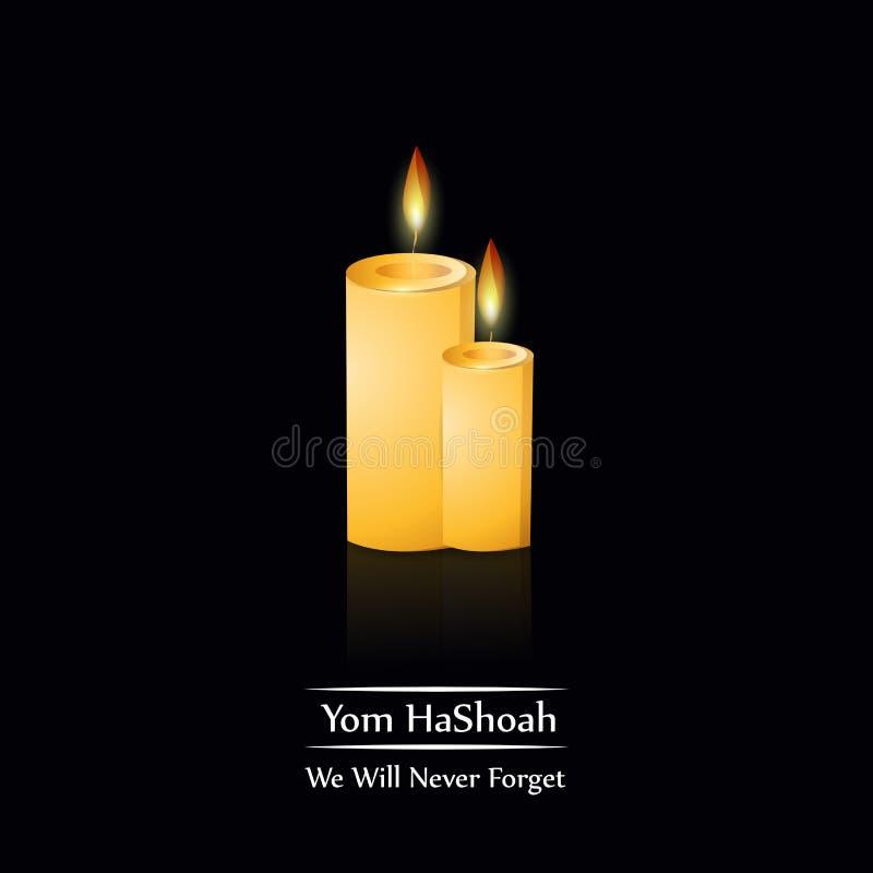 Yom HaShoah-achtergrond royalty-vrije illustratie