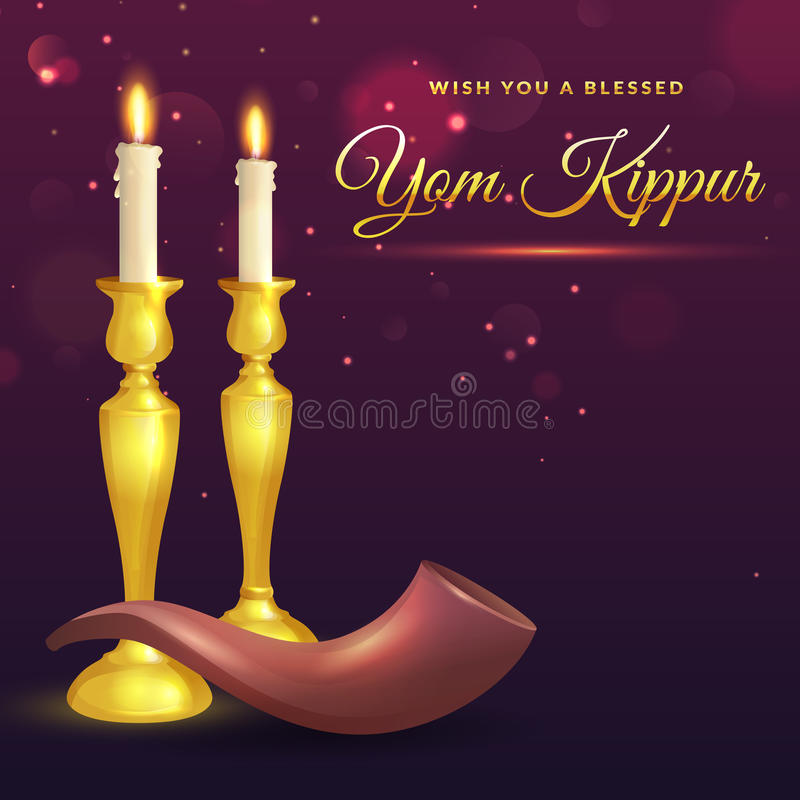 Yom Kippur greeting card. stock illustration