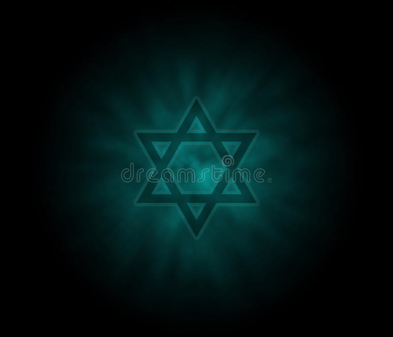Yom Kippur jewish background with David Star stock photography
