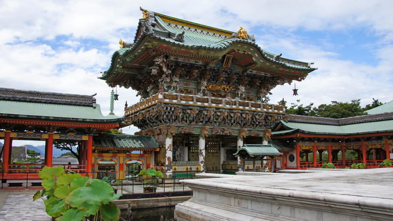 Yomeimon brama Kosanji świątynia w Japonia obrazy royalty free
