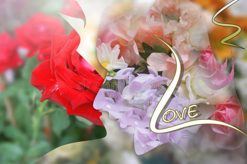 yong damy i mężczyzny kwiatu miękkiego światła karty miłość obrazy stock