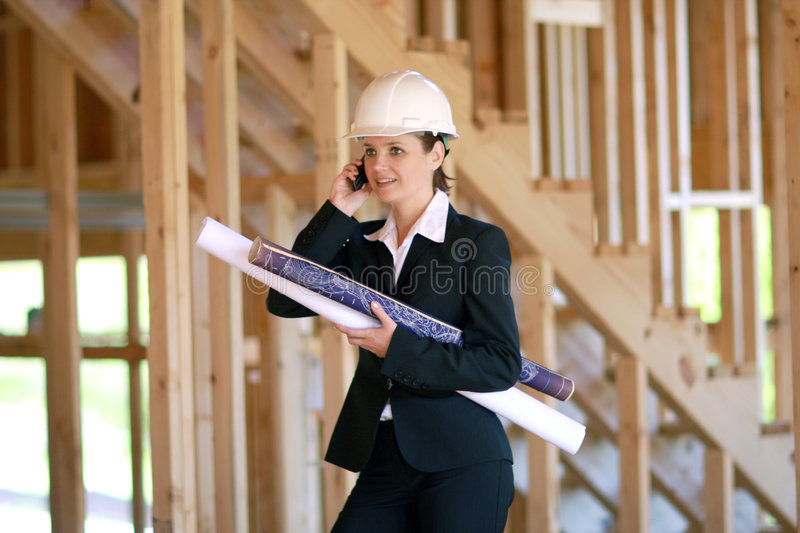 Yong female architect royalty free stock photography
