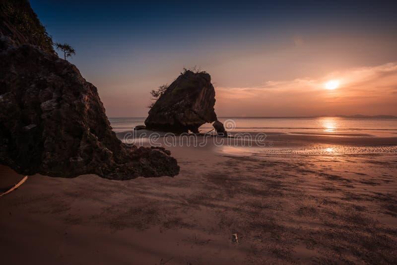 Yong Ling Beach, Sikao, Trang, Thaïlande image libre de droits