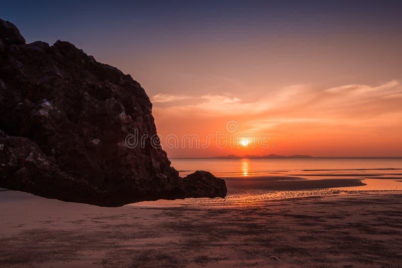 Yong Ling Beach, Sikao, Trang, Thailand. Yong Ling Beach is in Sikao, Trang, Thailand.Beautiful to see sunsets in Trang royalty free stock photos