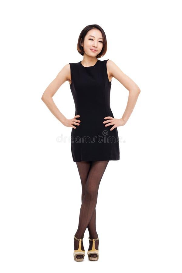 Yong pretty Asian business woman stock image