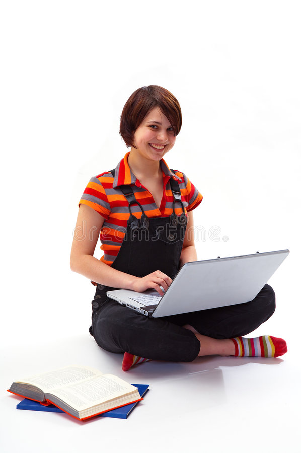 Yong student woman stock images