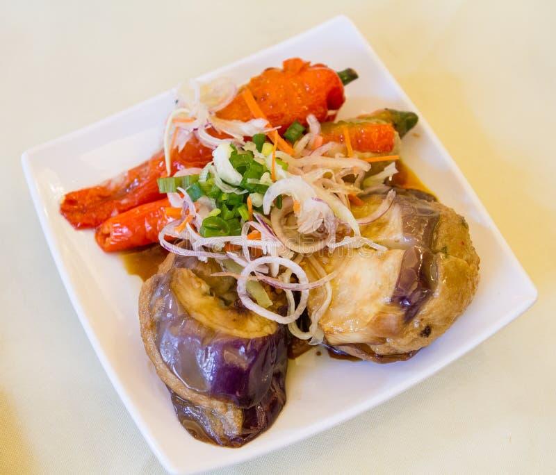 Yong Tau Foo Stuffed Meat stockbilder