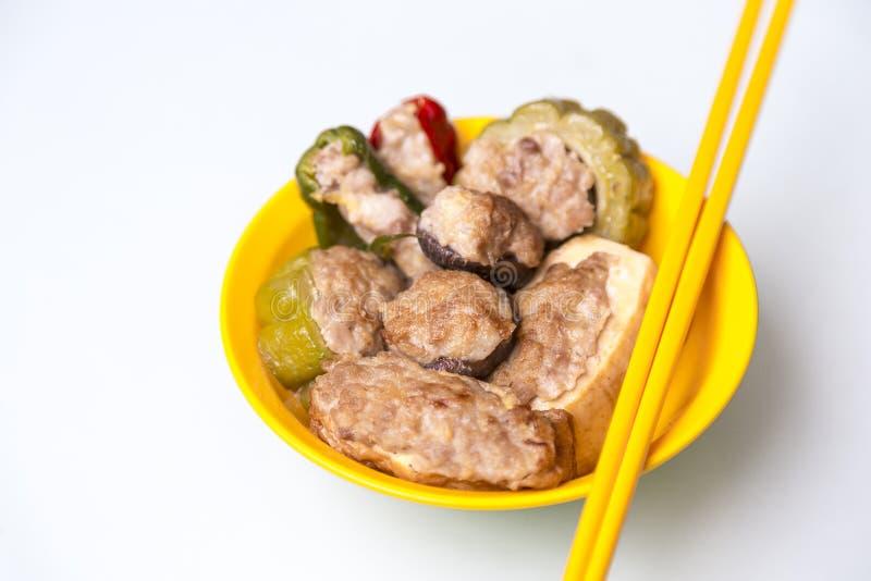 Download Yong Tau Fu stock photo. Image of chili, green, food - 32292514
