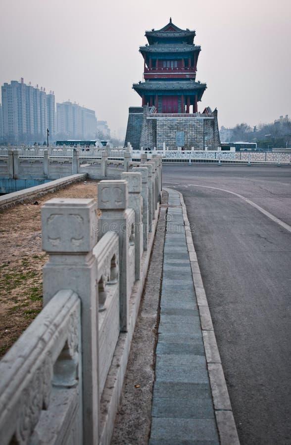 Download Yongdingmen gate stock photo. Image of watchtower, street - 37213364
