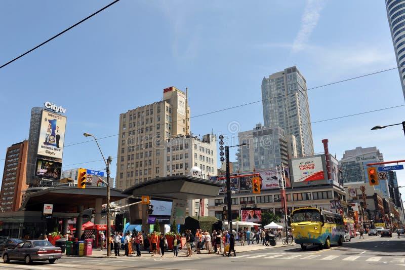 yonge-Dundas Kwadratowy Toronto fotografia royalty free