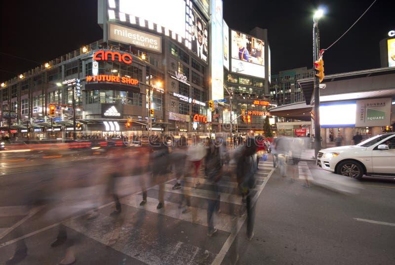 Yonge i Dundas Kwadrat, Toronto obrazy royalty free
