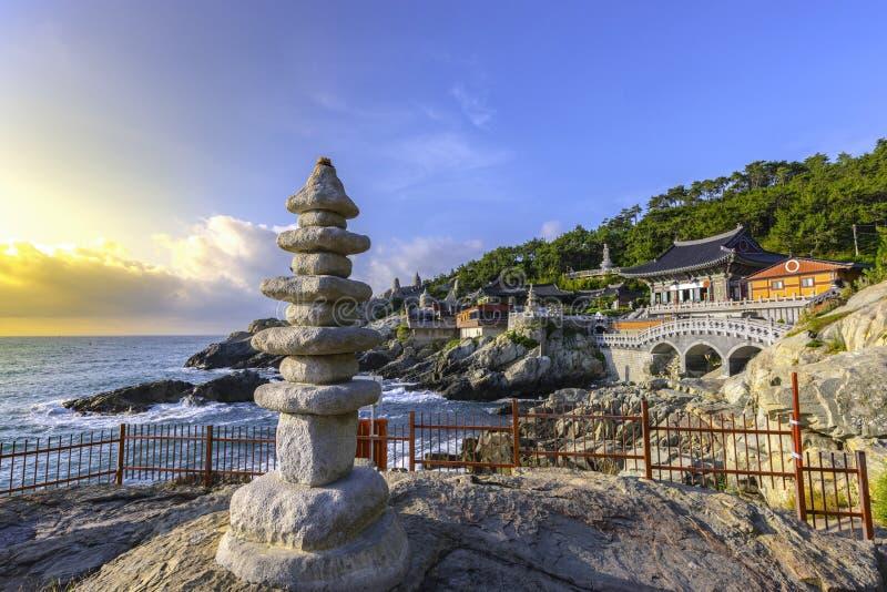 Yonggungsa temple at Busan,South Korea.  stock photos
