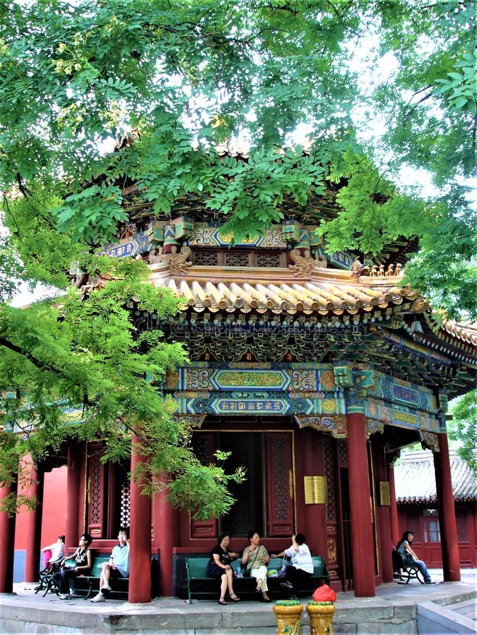 Yonghe świątynia w Pekin mieście, Chiny Tybetański buddyzm, historia i cześć, zdjęcia royalty free