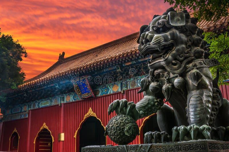 Yonghegong喇嘛寺庙 免版税库存照片