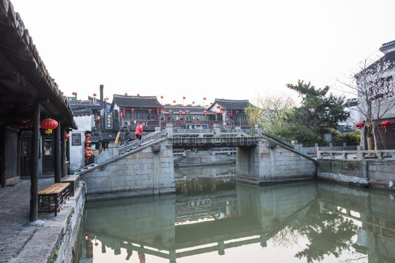Yongning bridge in the morning stock images