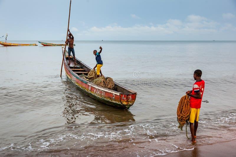 Yongoro, Sierra Leone, Africa occidentale - le spiagge di Yongoro fotografia stock libera da diritti