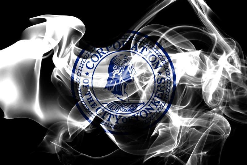 Yonkers-Stadt-Rauchflagge, Staat New York, Vereinigte Staaten von Americ lizenzfreie stockfotografie