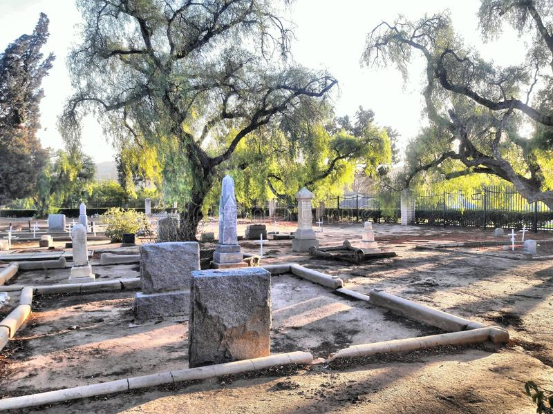 Yorba Linda Historic Cemetery. Image shows a Historic Cemetery located in Yorba Linda California. This historical landmark was established in 1858 and is said to stock images