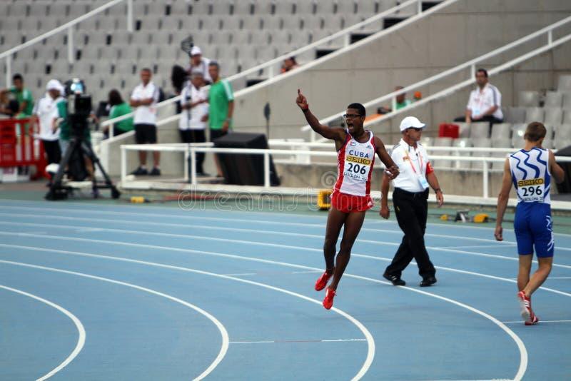 Yordan L. O Farrill From Cuba Celebrates Winning Editorial Image