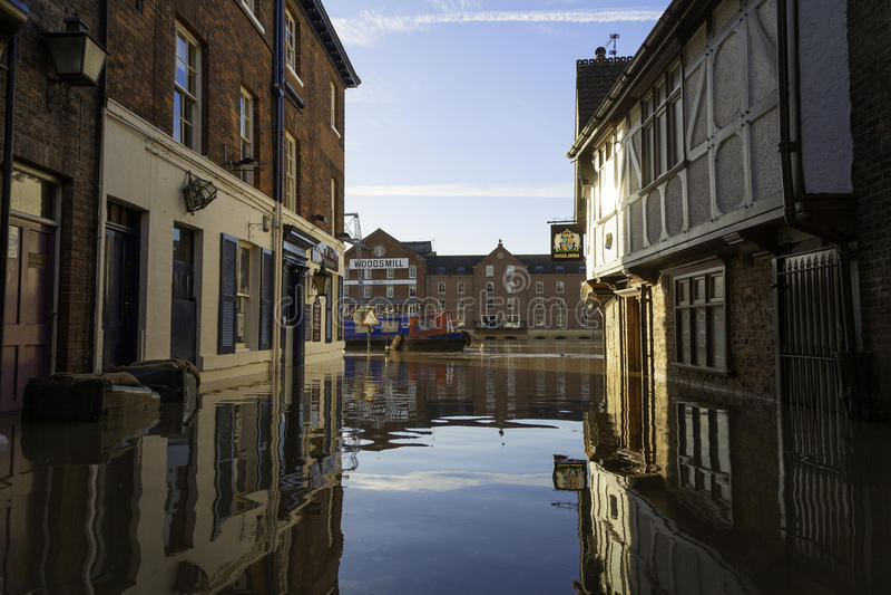 York översvämmar UK royaltyfri foto