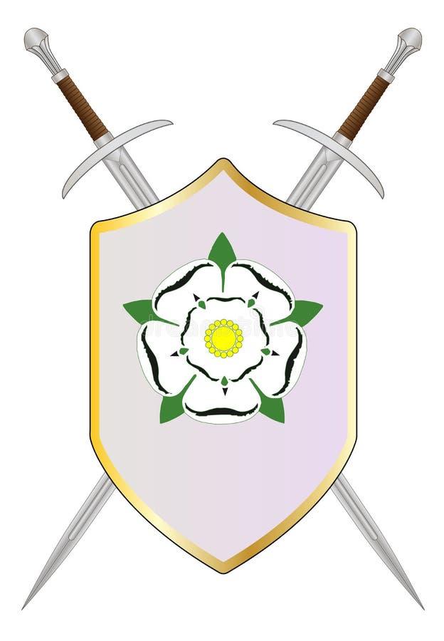 York armésköld vektor illustrationer