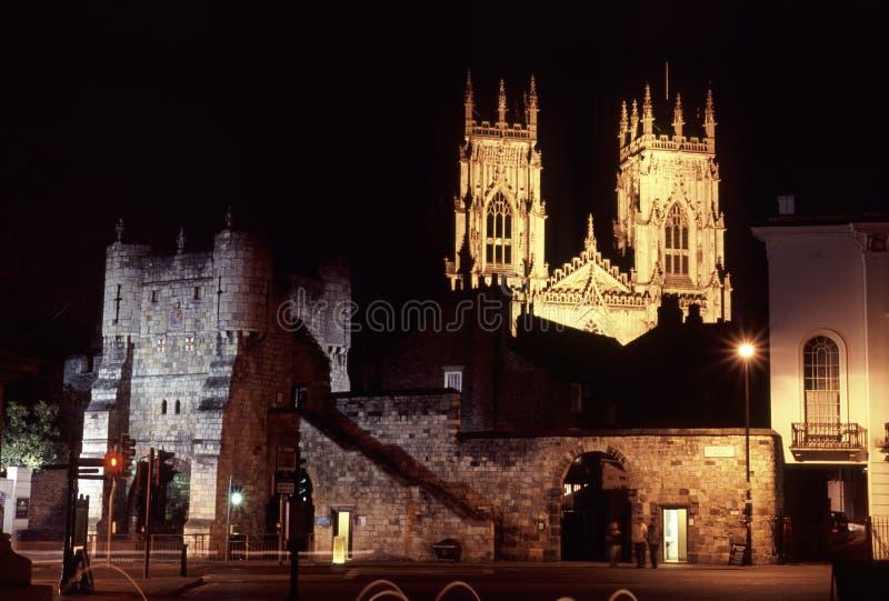 Download York bis zum Nacht stockbild. Bild von verstärkung, minster - 853563