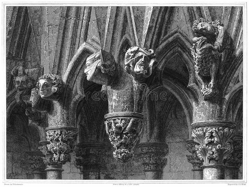 York Cathedral—Capitals and Pendants stock photos