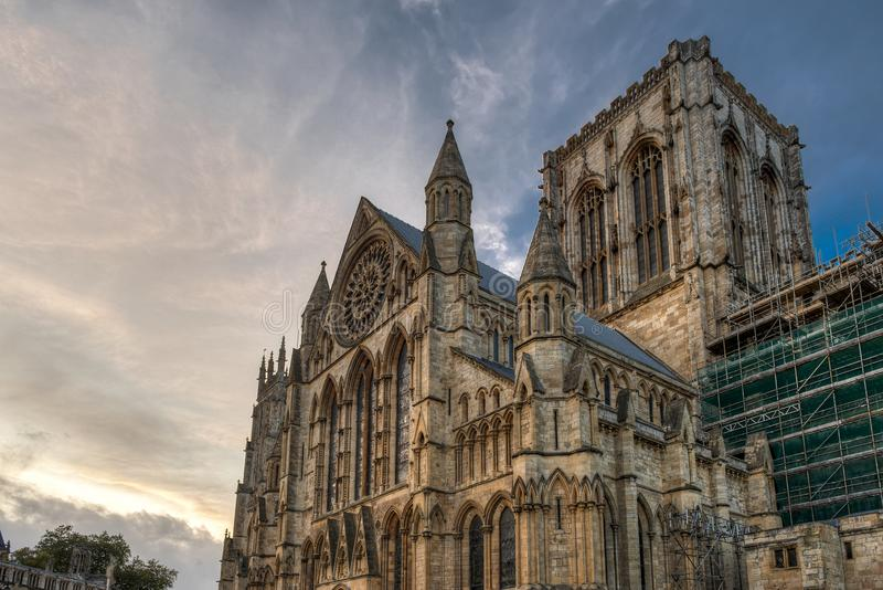 York Cathedral - The city of York in United Kingdom - England. York Cathedral - The city of York in United Kingdom royalty free stock photography