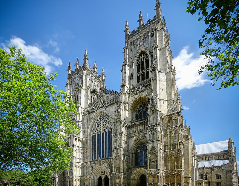 York Cathedral UK. The huge York Cathedral UK royalty free stock image