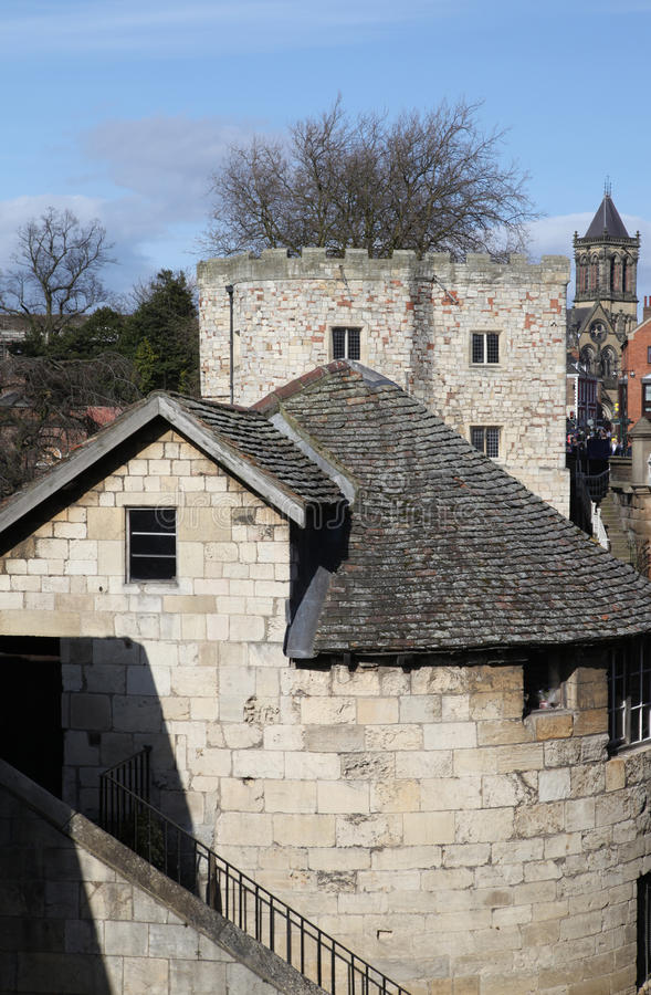 Download York city walls stock photo. Image of wall, house, stone - 13962472
