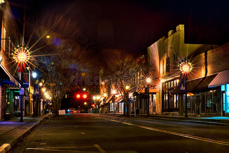 York del centro Carolina del Sud la città bianca della rosa al Ti di natale fotografia stock libera da diritti
