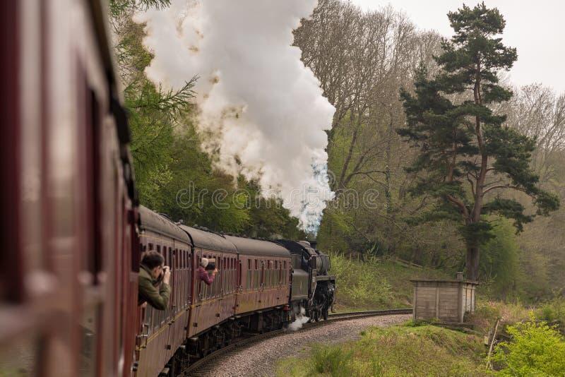 York del nord attracca la ferrovia fra Grosmont e Goathland, Y del nord fotografie stock libere da diritti