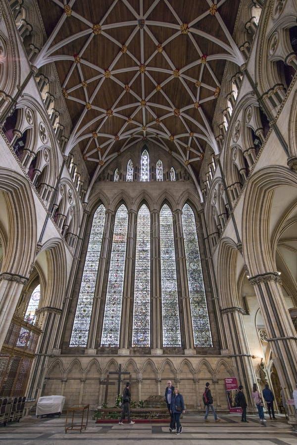 York domkyrka inom royaltyfri fotografi