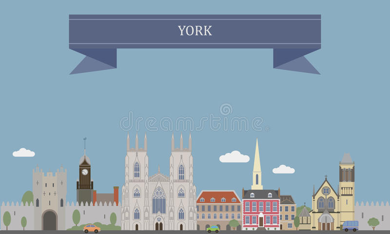 York, Engeland royalty-vrije illustratie