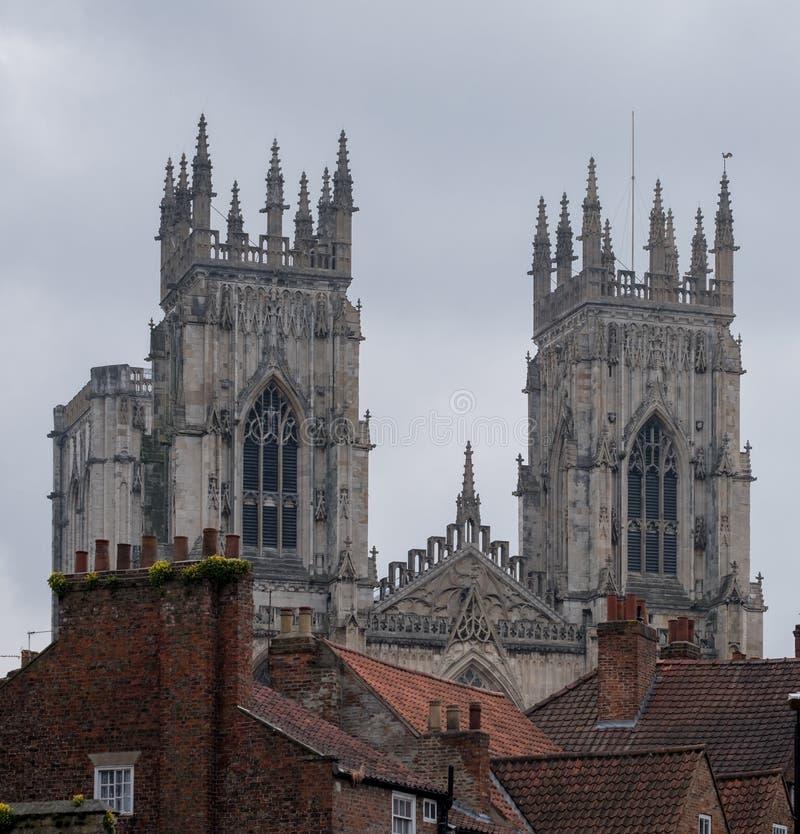 York England Großbritannien Ansicht von York-Münster, einer das Welt-` s die meisten ausgezeichneten Kathedralen lizenzfreie stockfotografie