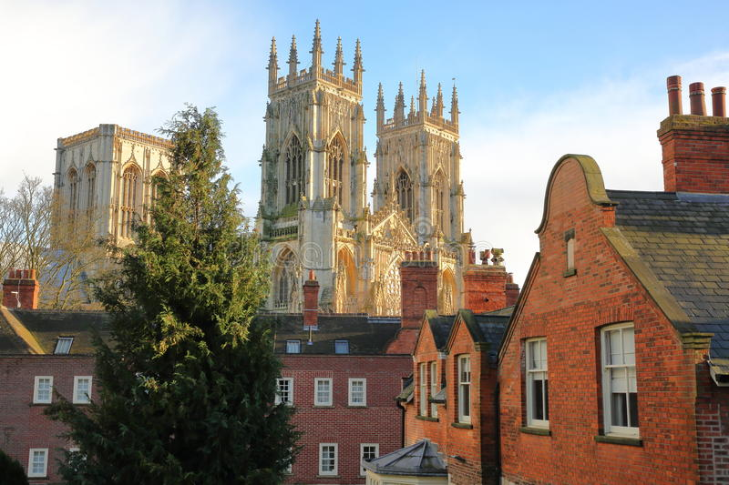 YORK, ENGLAND: The Minster in York stock images