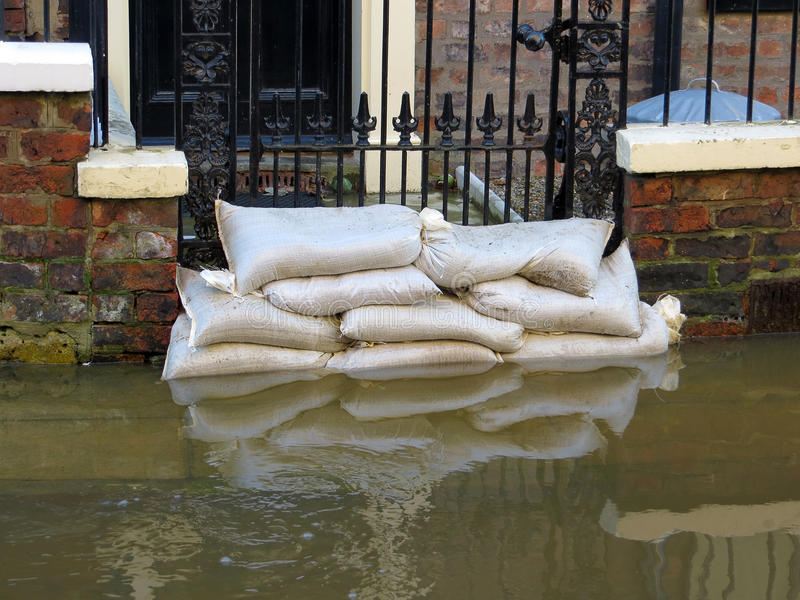 York flooded street stock photo