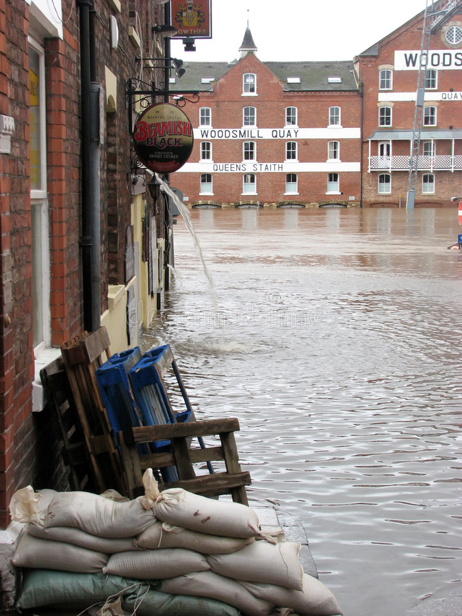 Download York floods stock image. Image of flow, damage, environment - 7796475
