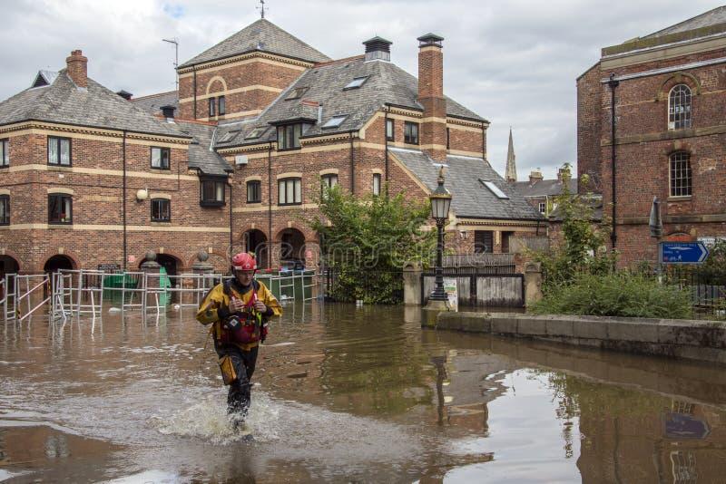 York Floods - Sept.2012 - UK stock images