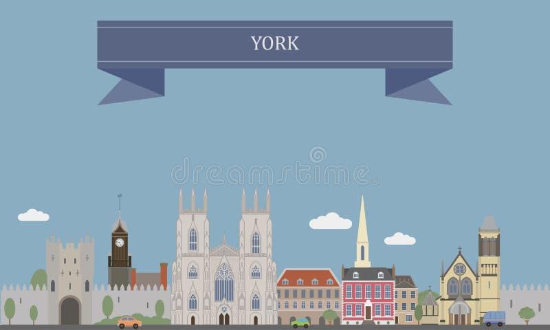 York, Inglaterra ilustração royalty free