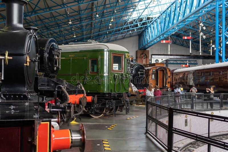 York, Inglaterra - 28 de julio de 2018: Locomotoras de vapor históricas y co imagenes de archivo