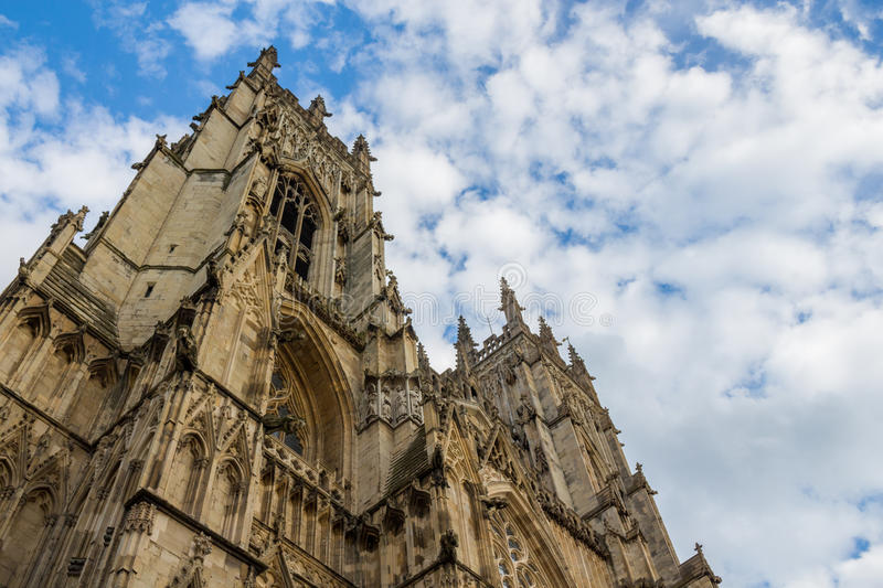 York Minster Cathedral low angle royalty free stock image