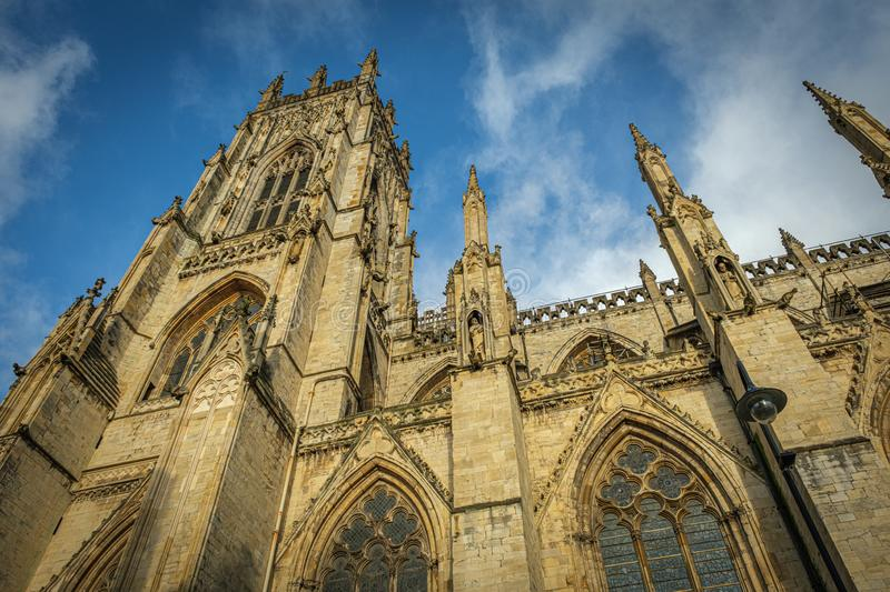 York Minster Gothic Cathedral stock photo