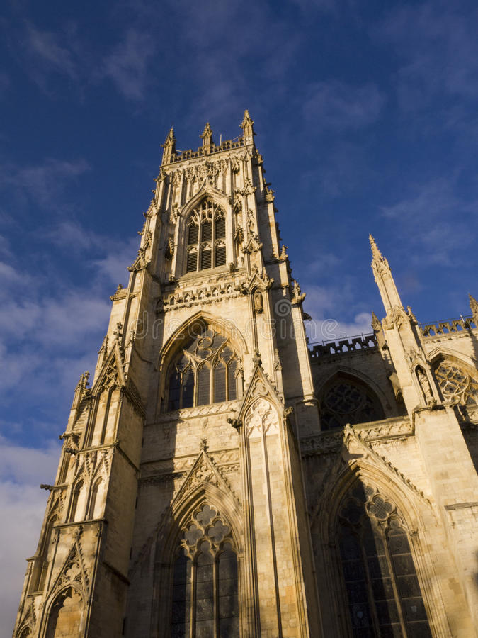 York Minster in York England. York is a walled city, situated at the confluence of the Rivers Ouse and Foss in North Yorkshire, England. The city has a rich royalty free stock image