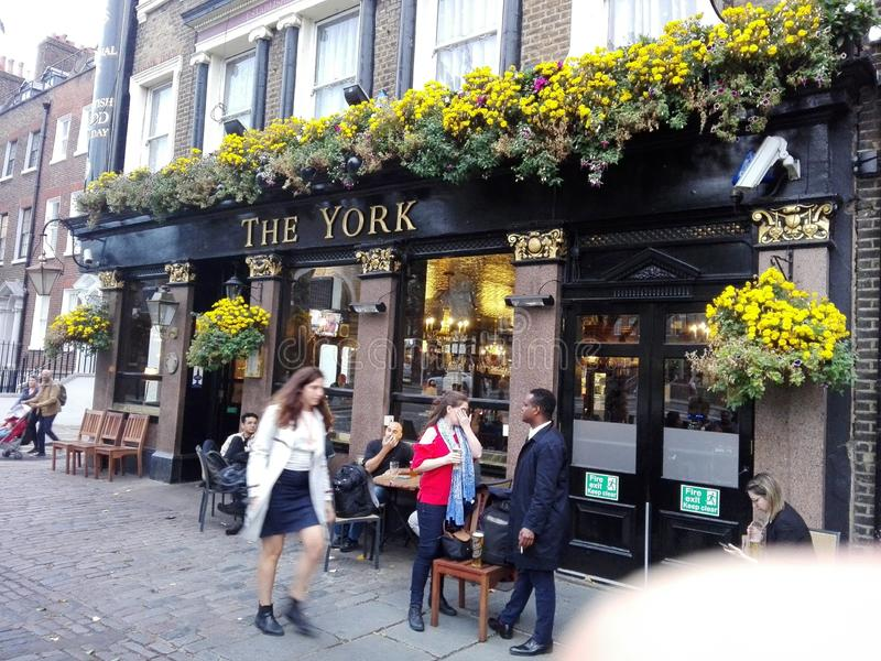 The york. Popular and public pub in north london royalty free stock images